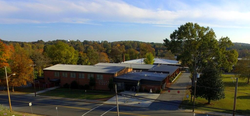 Aerial view of Denton Elementary School
