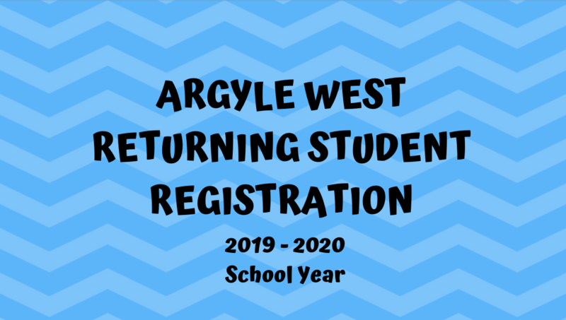 ARGYLE WEST ELEMENTARY RETURNING STUDENT REGISTRATION INFORMATION (FOR CURRENT AISD STUDENTS) Thumbnail Image
