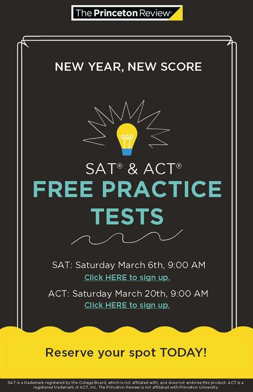Register NOW to take the Practice SAT or ACT! Featured Photo