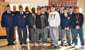 Veterans who attended and participated in ceremony