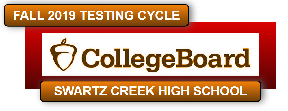 Fall Testing language placed upon the College Board logo.