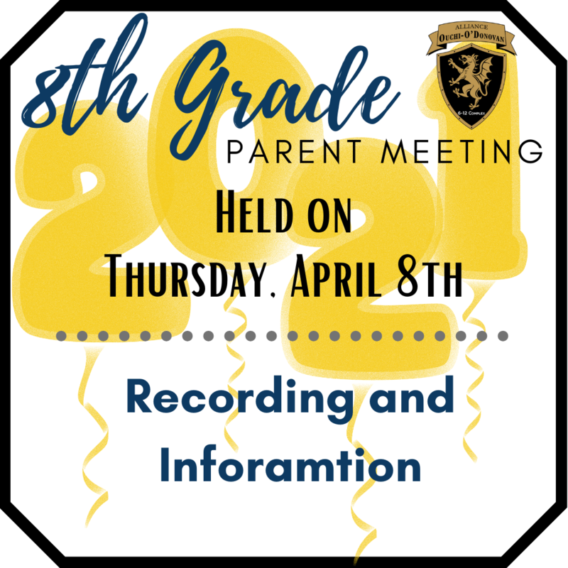 Important: 8th Grade Parent Meeting Recording and Information Thumbnail Image
