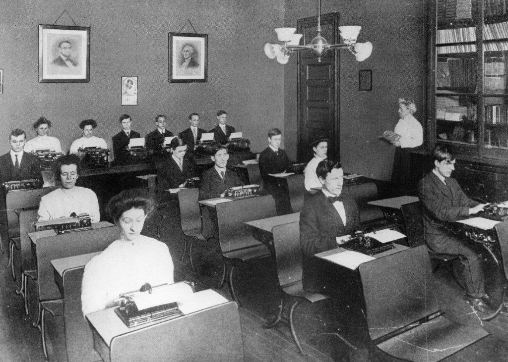 historic picture of the school's classroom