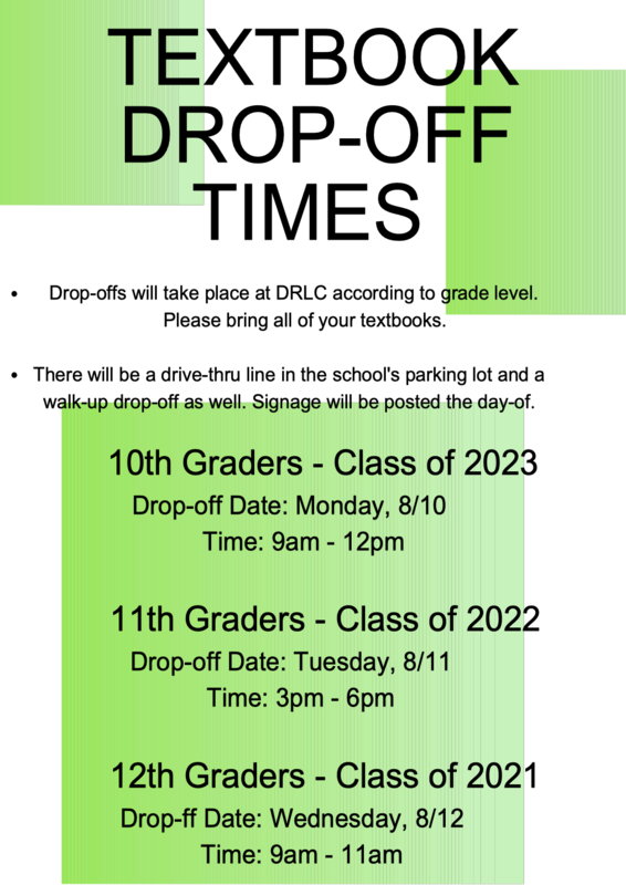 Schedule for book drop off & device pick-up Featured Photo