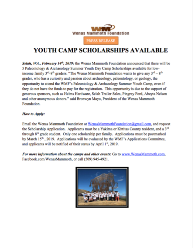 YOUTH CAMP SCHOLARSHIPS AVAILABLE Featured Photo