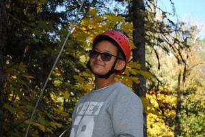 Outdoor school student