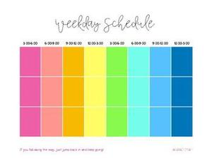 Picture of a Block Schedule