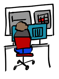 picture of a child at a computer