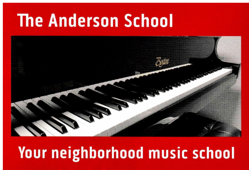 Anderson Music Logo with Piano