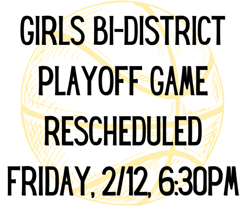 Game rescheduled