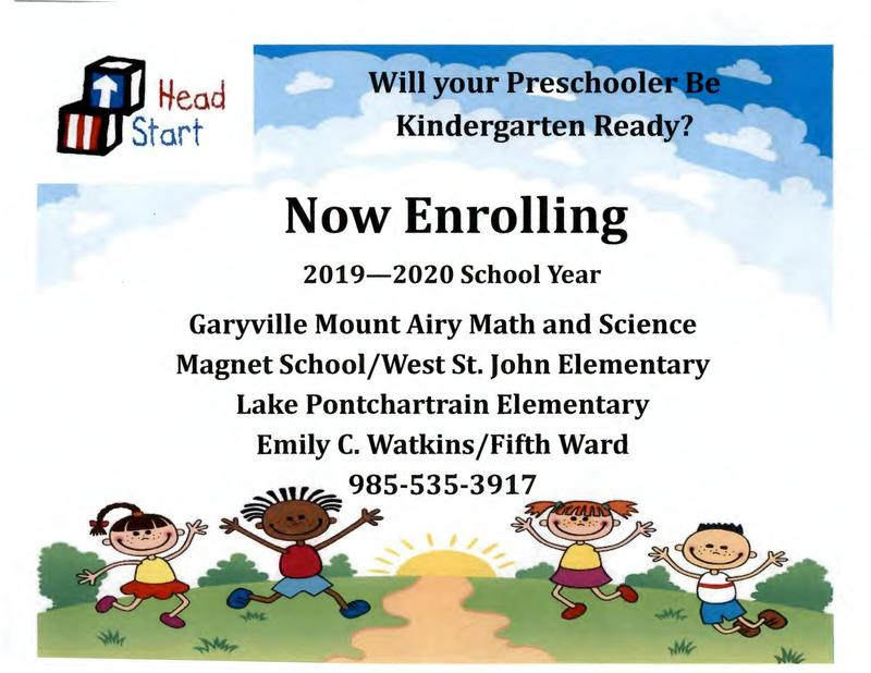 Enrollment Open for Head Start and Pre-School Thumbnail Image