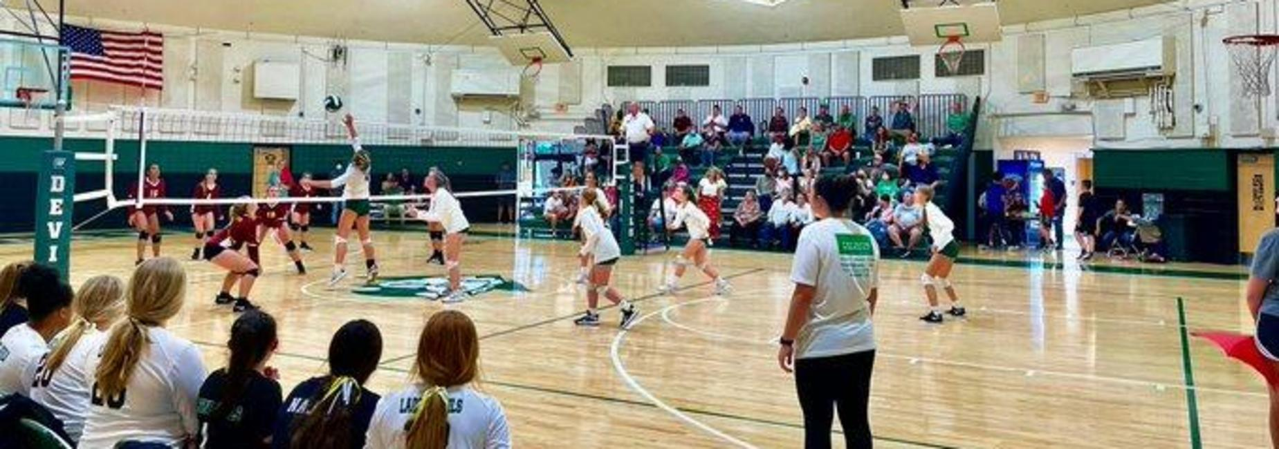 a picture of the GMS volleyball team playing