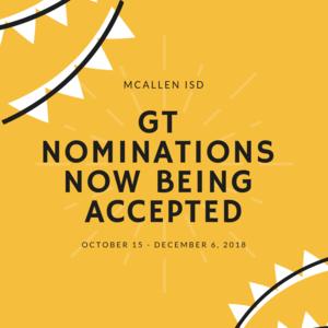GT Nominations
