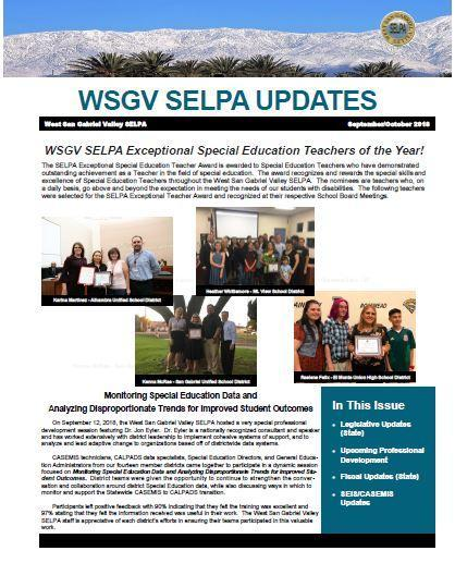 SELPA Newsletter
