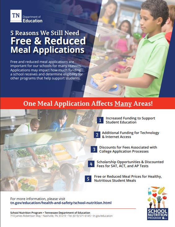 Free & Reduced Lunch Flyer Preview  click for more information