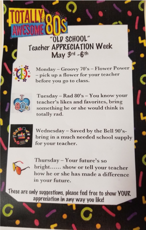 Teacher Appreciation Week May 6-10 Thumbnail Image