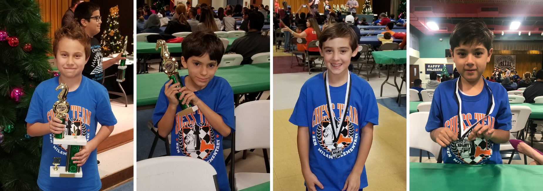 Milam Trophy and Medal Winners from Chess Tournament