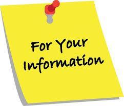 For your information yellow post it note