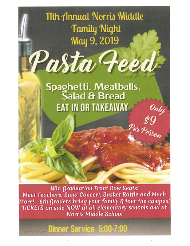 NMS Pasta Feed Flier