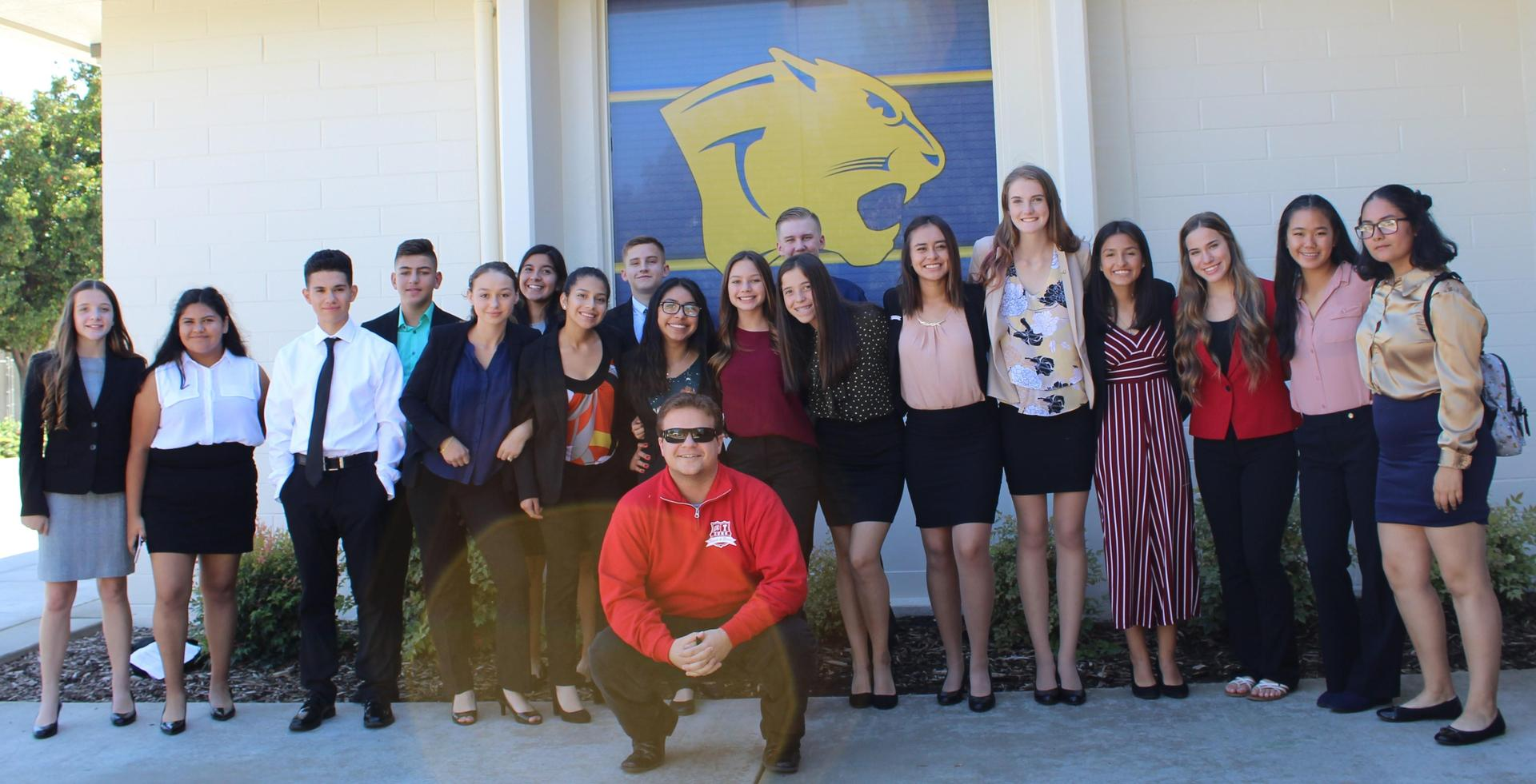 Speech and Debate students and staff at Clovis High