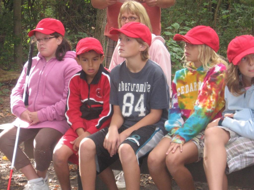 kids watch at camp