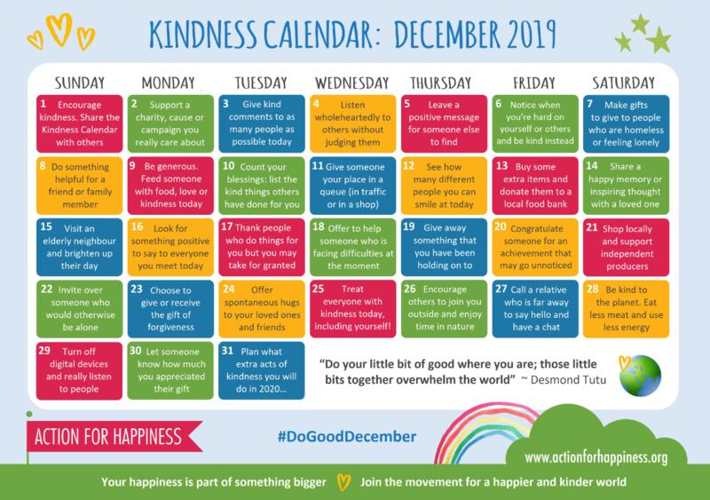 Kindness Calendar Featured Photo