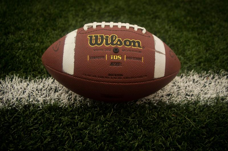 Image of a football on a field