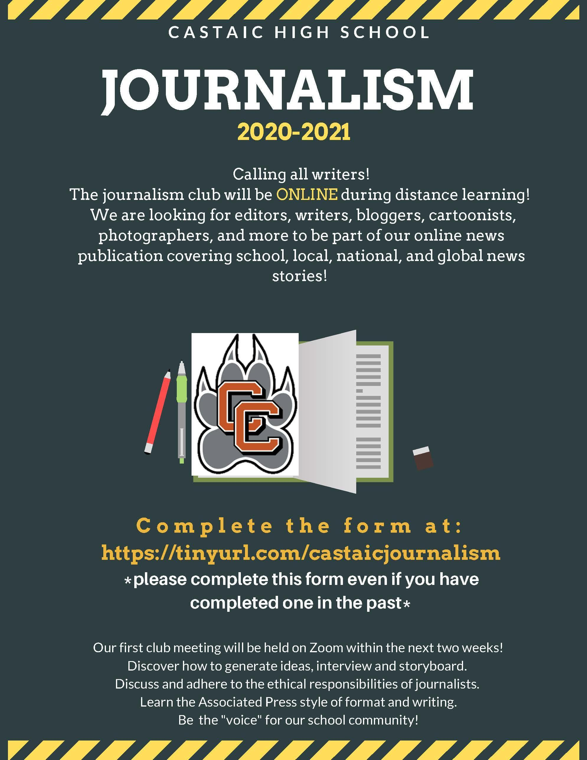Journalism Club Poster