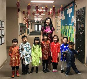Mrs. Sugimura and Students Celebrate the Lunar New Year