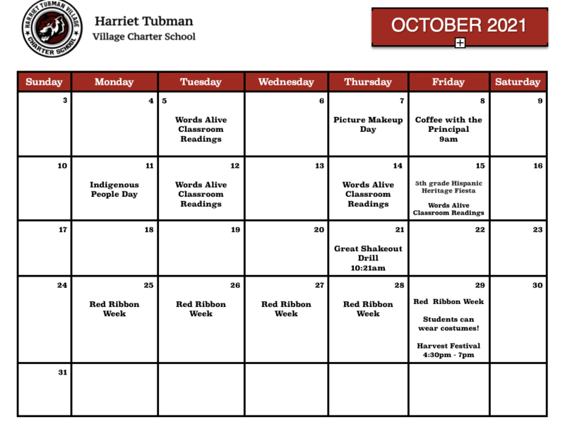 October Calendar of Events Featured Photo