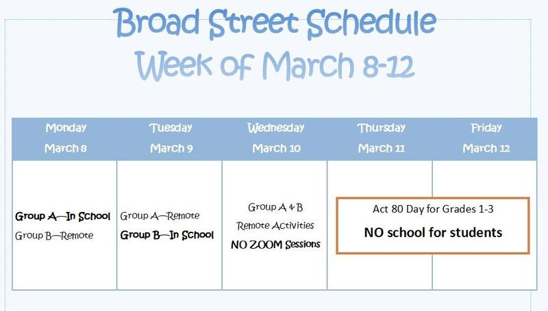 BS Schedule March 8-12
