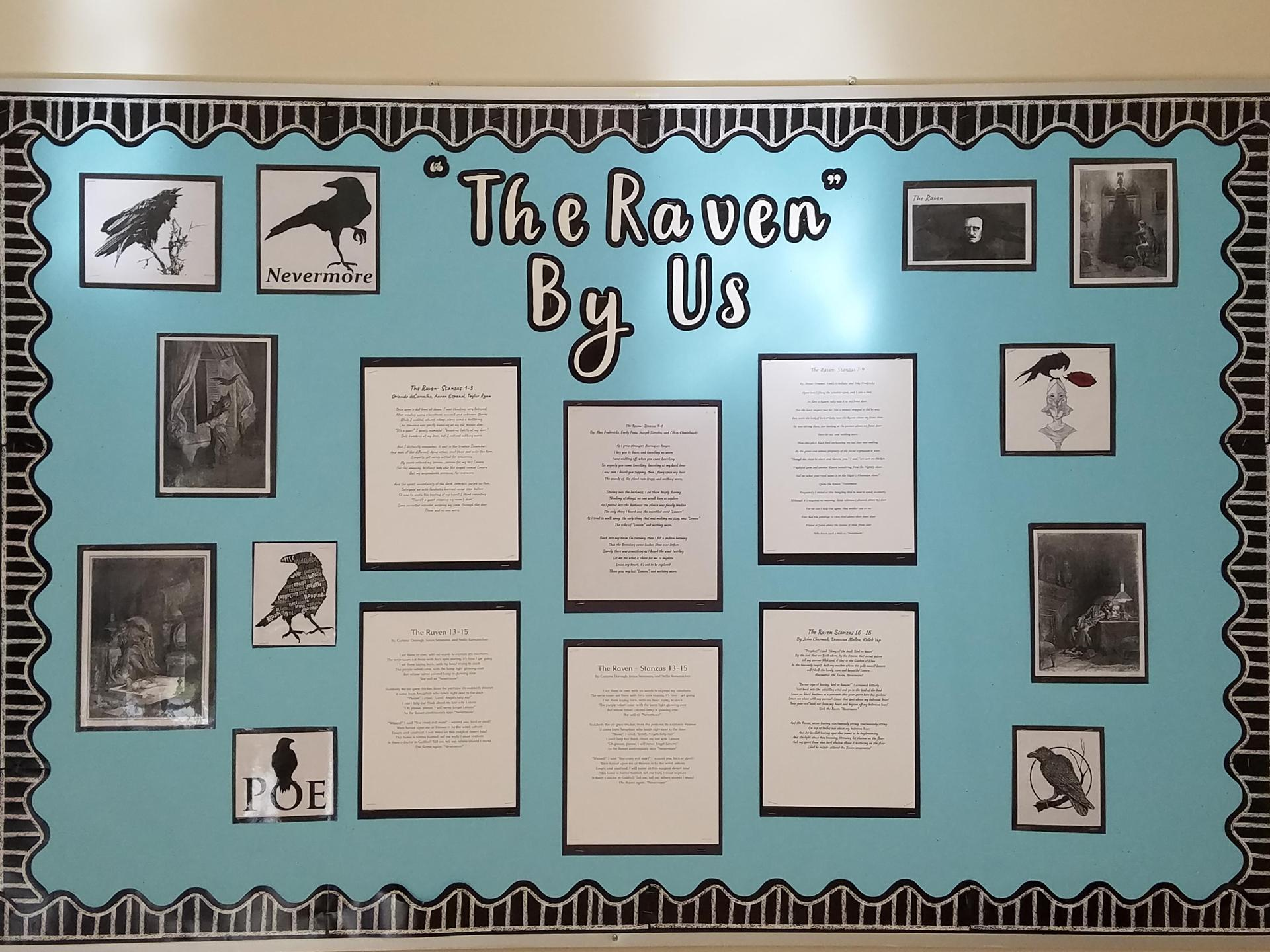 The Raven rewritten by the students