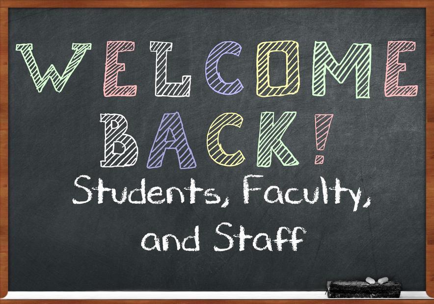 chalkboard welcome back