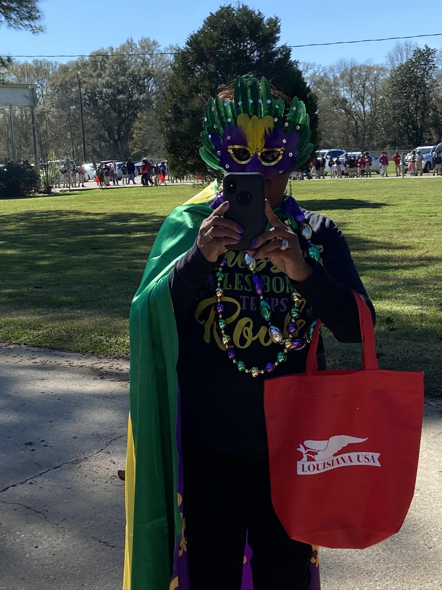 Photo Dr. Domingue took of PRAMS Mardi Graw Parade