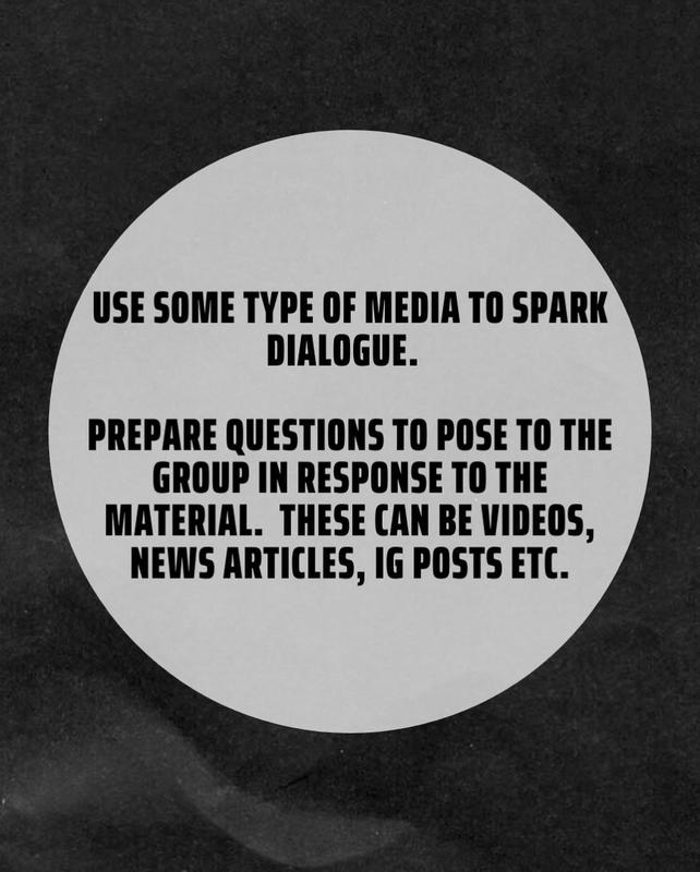 use media to help spark conversation