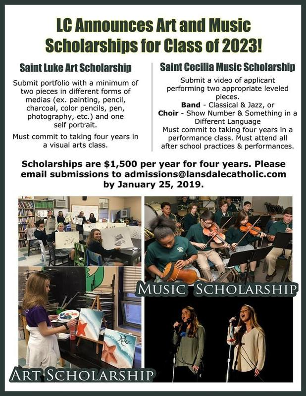One Art & One Music Scholarship For Class of 2023 Featured Photo