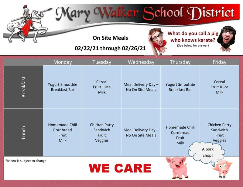 Meal Information for the week of 2/22/2021 Featured Photo