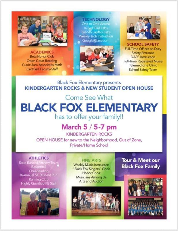 Black Fox Elementary Kindergarten Rocks Open House