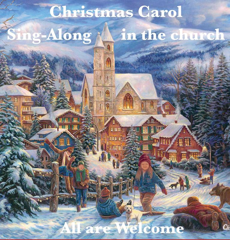 Christmas Carol Sing-a-Long -- Saturday, December 7 Featured Photo