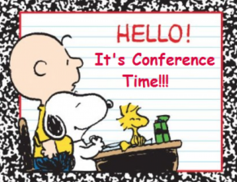 Charlie Brown - time for conferences