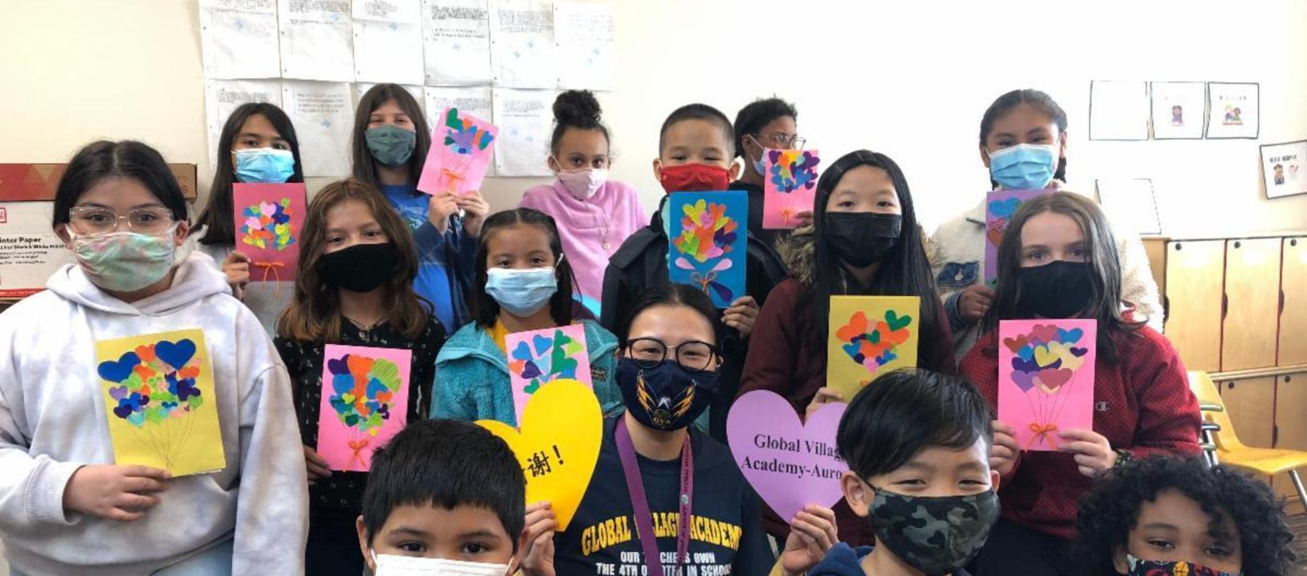 GVA Aurora Fourth Graders Share Cards of Gratitude