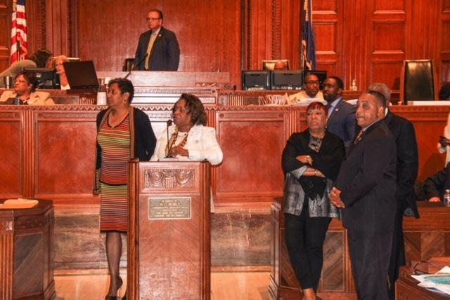 Photo of the BHS band at LA State Capital