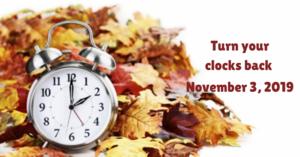 Turn Your Clocks Back This Saturday