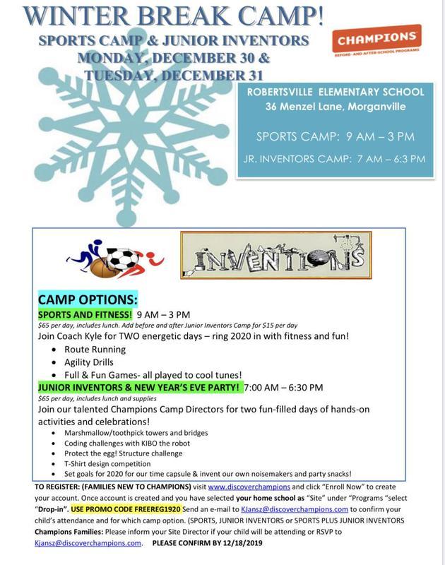 CHAMPIONS Winter Break Camp