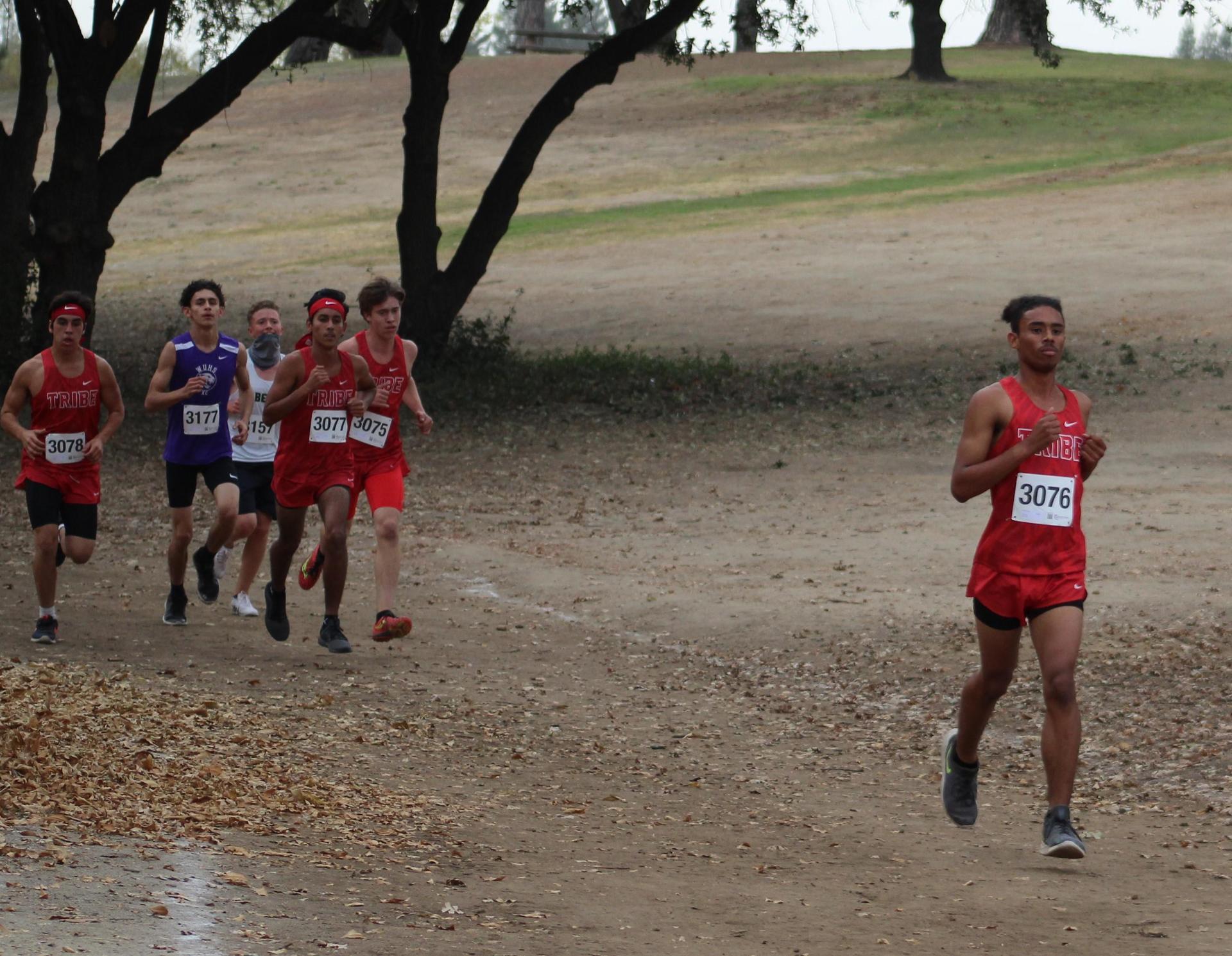 Lawerence Luna, Nicholas Martinez, Raymond Mendoza and Nick Upton racing at woodward park