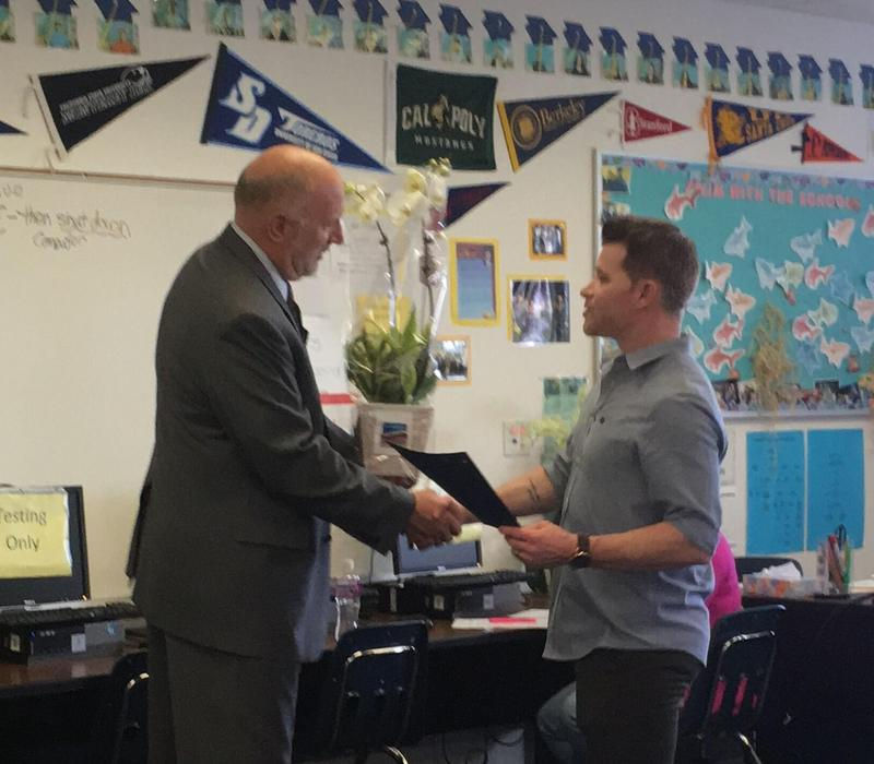 Certificated Teacher of the Year - Mr. Joshua Murphy Featured Photo