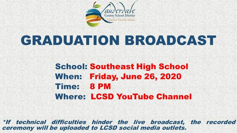 Southeast High School Graduation Broadcast Flier