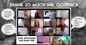 Room 308 zoom class thank you notes