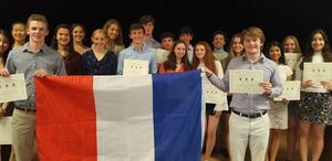 Photo of Westfield High School inductees into National French Honor Society.