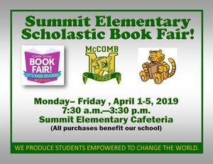 Summit Elementary Scholastic Book Fair News 2019